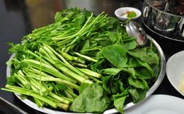 Nguy cơ do ăn rau cần nhúng tái
