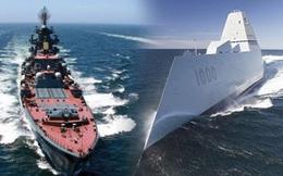 Chiến hạm Zumwalt của Mỹ đọ sức với tàu tuần dương Nga
