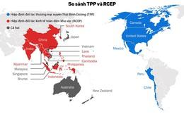 [Infographic] So kè sức mạnh của TPP và RCEP