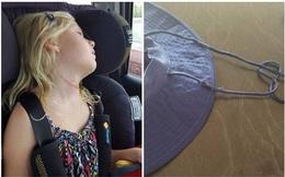 Thêm một trường hợp trẻ bị dây mũ rộng vành siết đến nghẹt thở