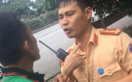 Tài xế bị rách môi khi làm việc với CSGT, Trung tá nói: Đối tượng nghiện, ăn vạ cán bộ
