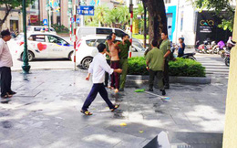 """Đối tượng tâm thần """"múa"""" dao gây náo loạn phố Hà Nội"""
