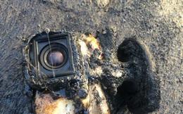 Camera hành trình bị dung nham nuốt chửng, vẫn hoạt động như thường, quay lại hết toàn bộ