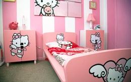 """Căn phòng toàn Hello Kitty hồng chứng minh con gái dù trưởng thành vẫn """"mãi mãi tuổi xì tin"""""""