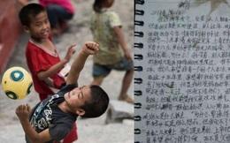 """Dòng thư tuyệt mệnh nghẹn ngào nước mắt của cậu bé Trung Quốc: """"Cha, nếu con qua đời, chắc cha sẽ vui hơn"""""""