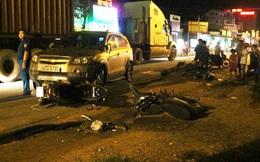 Nghi án chiến sĩ công an điều khiển ôtô đâm nhiều xe máy trên phố