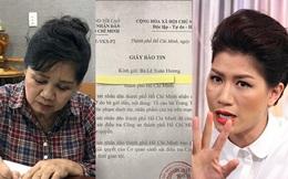 Nghệ sĩ Xuân Hương xác nhận đơn tố cáo Trang Trần đã chuyển đến công an điều tra