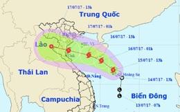 Bão số 2 giật cấp 10 hướng thẳng Nam Định - Nghệ An