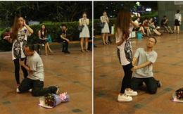 Quỳ gối ôm chân bạn gái tỏ tình nhưng bị từ chối phũ phàng chỉ bởi gia đình không có nhà vệ sinh