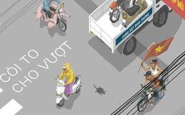 """Game Việt biến bạn thành """"ninja đi xe"""" vượt mọi thử thách giao thông ở Việt Nam"""