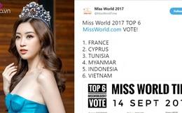 Chưa đi thi, HH Đỗ Mỹ Linh đã lọt top người đẹp được yêu thích nhất tại Miss World 2017