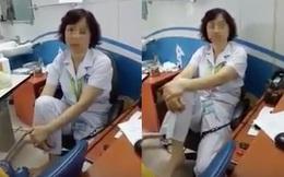 Quyết định kỷ luật nữ tiến sĩ BV Mắt gác chân lên ghế