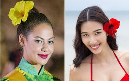Mặc áo dài và cài dâm bụt giống Hoàng Thùy, người đẹp Fiji 'sáng' nhất Miss Grand 2017