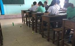 Màn giăng dây như ma trận để cô giáo không thể đi xuống kiểm tra vở của HS cấp 3