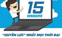 [Infographic] 15 website có ảnh hưởng nhất mọi thời đại