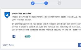 Hướng dẫn khi Facebook yêu cầu quét virus