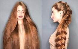 Từng bị rụng tóc đến hói cả đầu, nhờ những bí quyết nhỏ này cô gái Nga đã trở thành nàng Rapunzel đời thực vạn người mê