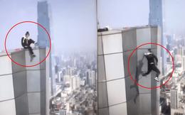 Clip toàn cảnh vụ diễn viên Trung Quốc trượt tay ngã từ tầng 62 xuống