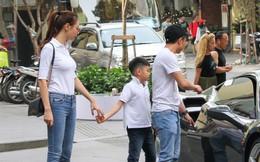 Cường Đô la - Đàm Thu Trang và Subeo đi chơi cuối tuần, nổi bật với siêu xe trên phố