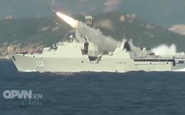 [VIDEO] Tàu hộ vệ tên lửa 012 Lý Thái Tổ phóng tên lửa Uran-E