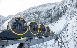 Tuyến đường sắt dốc nhất thế giới vừa được mở tại Thụy Sỹ, cao 1300 mét so với mực nước biển, độ dốc 110%