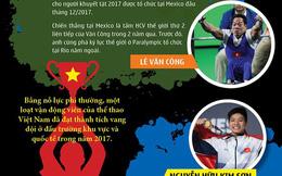 (Infographic) - Những kỷ lục siêu hạng của thể thao Việt Nam 2017!