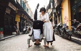 """Nhảy vòng quanh Hà Nội - ảnh cưới """"chất phát ngất"""" của cặp đôi vũ công """"chị ơi, em yêu chị"""""""