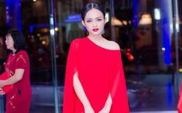 Diện đầm đỏ đi sự kiện, diễn viên Thanh Trúc xinh đẹp nổi bật