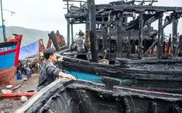 Thuyền trưởng suýt bị thiêu khi cứu tàu cháy ở Quảng Ngãi