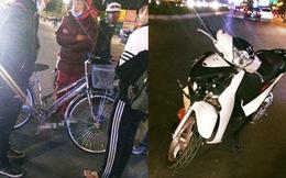 Vụ tai nạn hài hước trên phố Hà Nội: SH vỡ đầu xe, xe đạp vẫn lành lặn