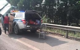 Truy bắt đối tượng đi xe máy đâm CSGT nguy kịch trên cao tốc