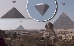 Bí ẩn UFO hình dáng lạ bay xung quanh kim tự tháp Giza ở Ai Cập