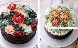 Ngắm nhìn 14 kiệt tác bánh gato hoa đá đẹp long lanh như thật