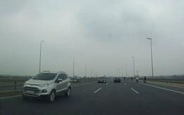 Xử phạt 1 trong 5 tài xế lái xe ô tô đi ngược chiều trên cầu Nhật Tân