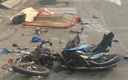 Hàng chục người truy đuổi xe container gây tai nạn ở Sài Gòn