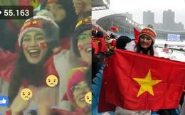 Chỉ vài giây xuất hiện, mỹ nhân Việt trên khán đài sân Thường Châu được dân mạng săn lùng