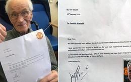Bức thư cảm động của Jose Mourinho dành cho fan Man Utd 94 tuổi, vừa trải qua cơn đột quỵ