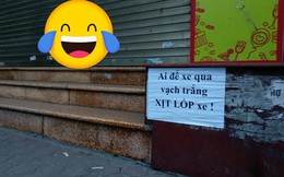 """Tờ giấy cảnh báo dán trên vỉa hè phố Hà Nội khiến nhiều người đi qua """"toát mồ hôi"""""""