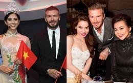 """Những lần David Beckham """"gây bão"""" khi sánh vai bên các mỹ nhân Việt đình đám"""
