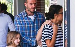 David Beckham mặt căng thẳng đưa bé Harper đi chơi sau khi nhà bị trộm đột nhập