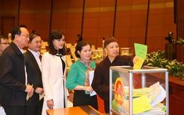 Quốc hội tiến hành lấy phiếu tín nhiệm với 48 chức danh
