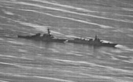 """Cận cảnh pha chặn đầu """"cực nguy hiểm"""" của chiến hạm TQ với tàu khu trục Mỹ tại Đá Ga Ven"""