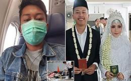Bức ảnh cuối cùng người chồng gửi cho vợ mới cưới chỉ 30 phút trước khi máy bay Indonesia lao xuống biển