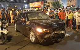 Phó công an thị xã ở Bình Phước đi ô tô gây tai nạn liên hoàn khiến 2 người nhập viện