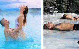 Suối địa nhiệt đẹp như tiên cảnh ở Iceland: Đến rồi mới thấy chen chúc toàn người trần mắt thịt