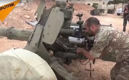 """Quân đội Syria tung pháo bắn tỉa săn tăng """"Rapira"""" MT-12 lâm trận diệt khủng bố"""