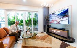 Ngắm TV LG OLED siêu mỏng trong phòng khách hiện đại của KTS Thanh Truyền