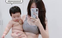 """""""Khoe"""" vóc dáng cực chuẩn sau 6 tháng sinh em bé thứ 2, hot mom Ngọc Mon nhận được cơn mưa lời khen từ MXH"""