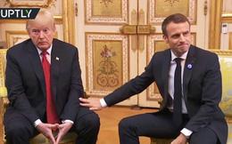 """Video: Sau màn mắng mỏ phủ đầu, mặc Tổng thống Pháp ra sức """"làm lành"""", ông Trump vẫn tỉnh bơ"""