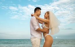 Hot girl Tra Li tung ảnh cưới nóng bỏng